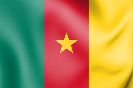 republique: 3D Flag of the Cameroon. 3D Illustration.