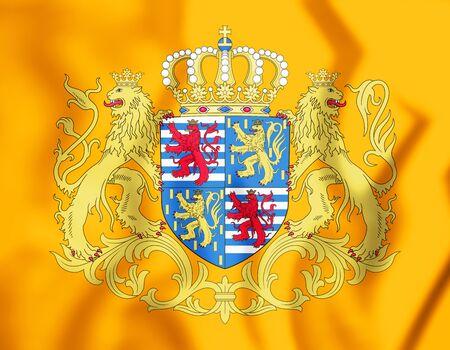 3D Standard of Grand Duke of Luxembourg. 3D Illustration.    Stock Photo