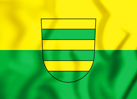 3D Flag of Filderstadt (Baden-Wurttemberg), Germany. 3D Illustration.