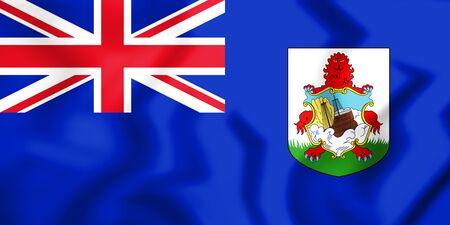 3D Government Ensign of Bermuda. 3D Illustration.