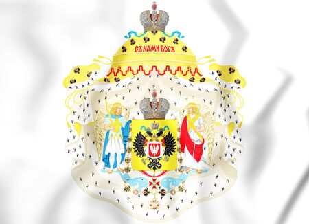 3D Great Coat of Arms of Congress Poland.  3D Illustration. Stock Photo