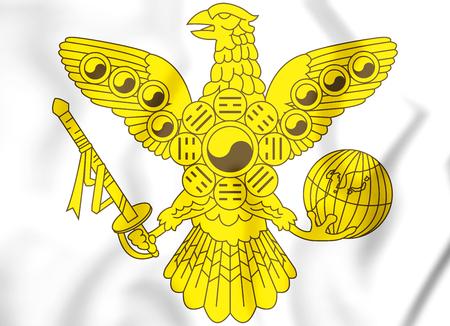 rendered: 3D Imperial emblem of Korean empire. 3D Illustration.