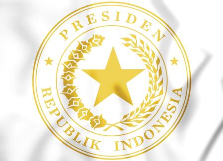 3D Indonesian Presidential Seal. 3D Illustration.