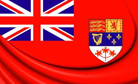 3D Canadian Red Ensign (1957-1965). 3D Illustration.