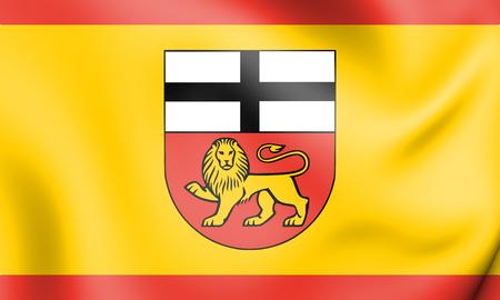 rendered: 3D Flag of Bonn (North Rhine-Westphalia), Germany. 3D Illustration.