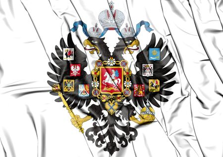 royal person: 3D Russian Empire Coat of Arms. 3D Illustration.