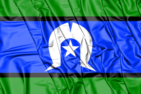 3D Flag of Torres Strait Islanders. 3D Illustration. Фото со стока