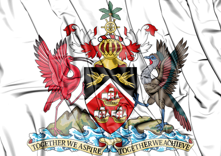3D Trinidad and Tobago coat of arms. 3D Illustration. Stock Photo