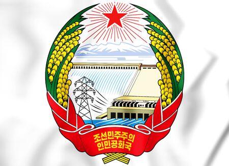 3D Emblem of North Korea. 3D Illustration. Stock Photo