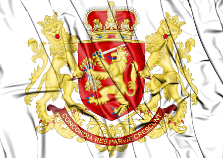 Republic of the United Netherlands Coat of Arms (after 1665). 3D Illustration.
