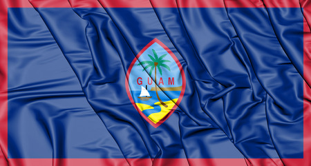 3D Flag of the Guam. 3D Illustration. Stock Photo