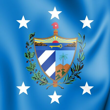 3D President of Cuba Standard. 3D Illustration. Stock Photo