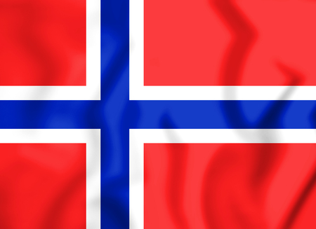 3D Flag of the Norway. 3D Illustration. Stock Photo