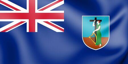 3D Flag of Montserrat. 3D Illustration.