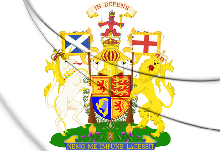 3D Scotland Royal Coat of Arms. 3D Illustration.