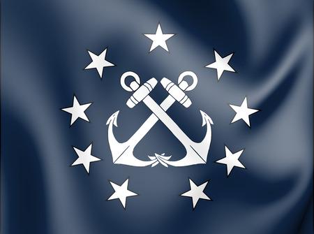 3D Naval Jack de Panamá. Ilustración 3D. Foto de archivo