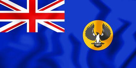 3D Flag of South Australia. 3D Illustration.