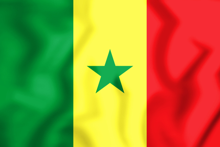 3D Flag of the Senegal. 3D Illustration.