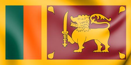3D Flag of Sri Lanka. 3D Illustration. Stock Photo