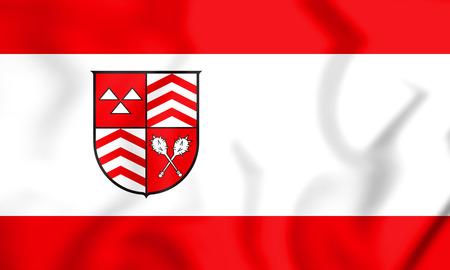 3D Flag of Werther (North Rhine-Westphalia), Germany. 3D Illustration.    Stock Photo