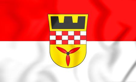 3D Flagge von Wetter (Ruhr), Nordrhein-Westfalen, Deutschland. Abbildung 3D. Standard-Bild - 94504885