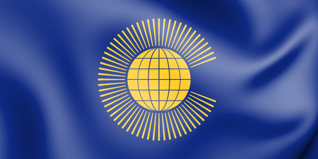 3D Flag of Commonwealth of Nations. 3D Illustration.