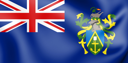 3D Flag of Pitcairn Islands. 3D Illustration. Stock Photo