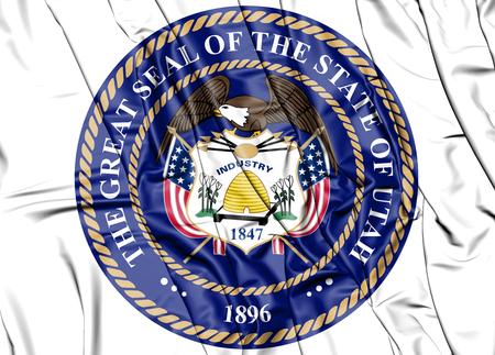 3D State Seal of Utah, USA. 3D Illustration.   写真素材