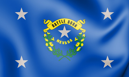 3D Standard of the Governor of Nevada, USA. 3D Illustration. Stock fotó