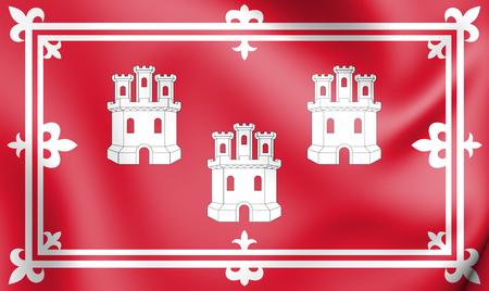 3D Flag of Aberdeen, Scotland. 3D Illustration. Stock Photo