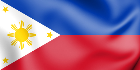 3D Flag of the Philippines. 3D Illustration.