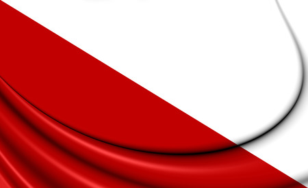 3D Flag of Utrecht city, Netherlands. 3D Illustration. Stock Photo