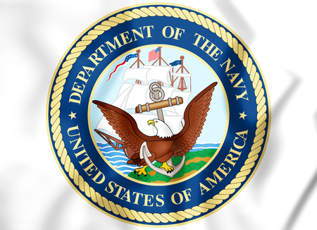 3D Seal of United States Department of the Navy. 3D Illustration. Stockfoto