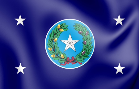 3D Standard of Governor of Texas, USA. 3D Illustration.