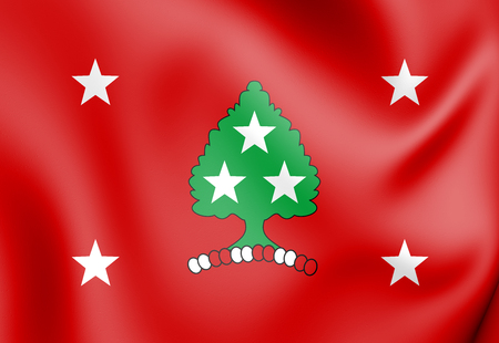 3D Standard of the Governor of Tennessee, USA. 3D Illustration.