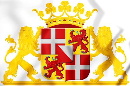 3D Utrecht Province Coat of Arms, Netherlands. 3D Illustration. Stock Photo