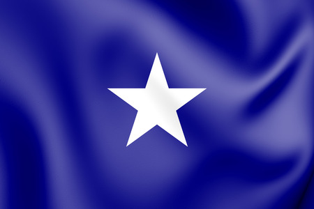 Bonnie Blue flag of the Confederate States of America. 3D Illustration.