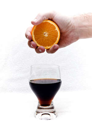 nonfat: one orange and one glass