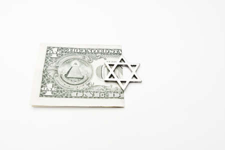 one dollar with star of david photo