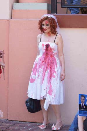 Downtown San Diego 08202012 Zombie Rally - Zombie Bride