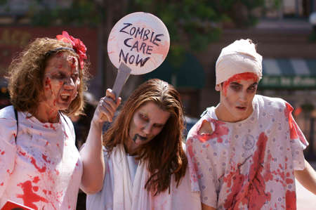 Downtown San Diego 08/20/2012 Zombie Rally - Zombies