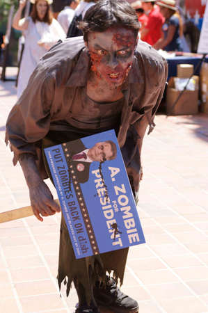Downtown San Diego 08/20/2012 Zombie Rally - Mean Zombie Редакционное