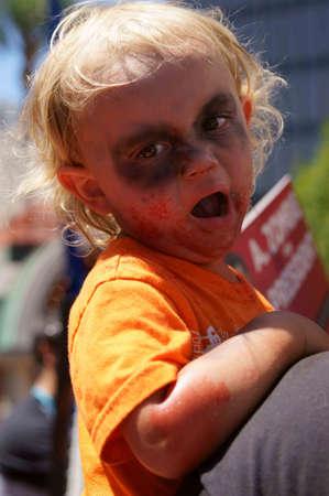 gruesome: Downtown San Diego 08202012 Zombie Rally - Zombie Baby