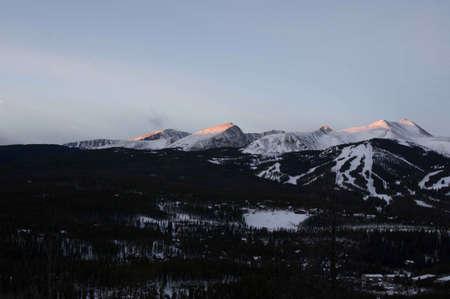 sunup: Breckenridge, Colorado  01262013- Sunrise over Breckenridge Ski Area and Town