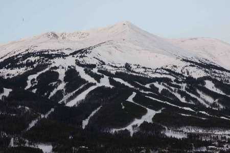 ski runs: Breckenridge, Colorado  01262013- Pre sunrise over Breckenridge Ski Resort Editorial