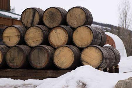 Breckenridge Distillery, 01262013 Whickey Barrels in Snow