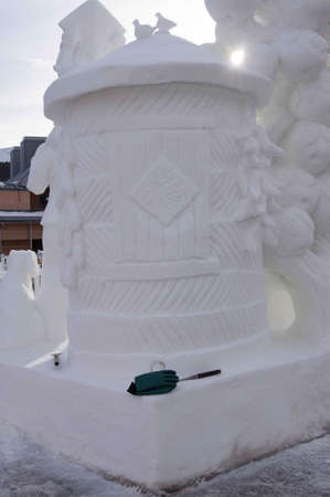 sculp: Breckenridge, Colorado  01262013- Ice Sculpture Competition China Editorial