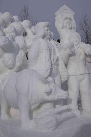Breckenridge, Colorado  01/26/2013- Ice Sculpture Competition China Stock Photo - 17838084