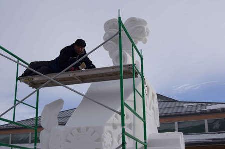 Breckenridge, Colorado  01/26/2013- Ice Sculpture Competition Stock Photo - 17838086