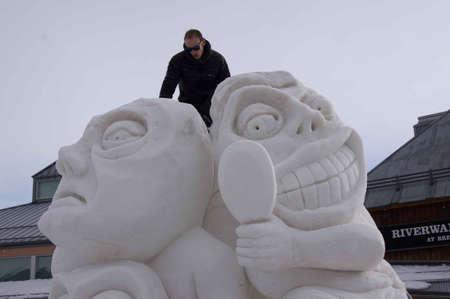 Breckenridge, Colorado  01/26/2013- Ice Sculpture Competition Stock Photo - 17838075